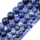 "Natural  Blue Sodalite Round Beads 15"", 4, 6, 8, 10, 12mm, pick your size"