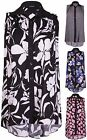 Womens New Plus Size Floral Print Ladies Sleeveless Collared Shirt Long Vest Top
