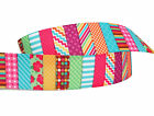3m/6m/12m CHECK SPOTS STRIPES CHIC 22mm wide Crafts Grosgrain Gift Wrap Ribbon