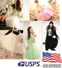 US STOCKS !!!Fashion Princess Fairy Style 5 layers Tulle Dress Bouffant Skirt