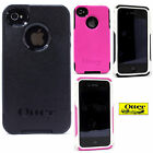 Authentic OtterBox Commuter Case for iPhone 4 4s Pink White Black + Screen Guard