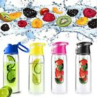 Fruit Juice Travel Water Bottle Lemon Cup 4 Colors 800ml Ice Tea