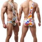 Sexy Men's Underwear Cotton Printed Jumpsuits One-Pieces Coveralls Body Suit