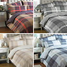 Riva Home Clubhouse Checked Tartan PolyCotton Duvet Quilt Cover Bedding Set