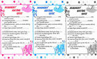 Baby Shower Game NURSERY RHYME QUIZ Gift for MUM Pink,Blue,White FIRST CLAS POST