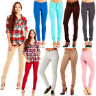 WOMENS SOFT SOLID STRETCHY FRENCH TERRY BASIC JEGGING SKINNY PANTS 511S