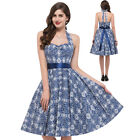 PINUP 1950'S VINTAGE STYLE RETRO PATTER SUPER SWING PINUP TEA PARTY PROM DRESSES