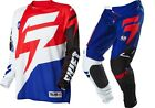 NEW 2016 SHIFT RACING FACTION MX DIRT BIKE GEAR COMBO WHITE/ RED ALL SIZES
