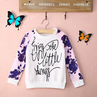 Baby Girls Toddler Long Sleeves Floral T-Shirt Tops+Trousers Pants Kid Set 2-7Y