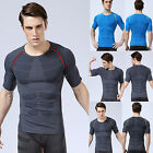 Muscle Mens Sport Fitness Gym Compression T shirt Tops Casual Tee Slim Skin New