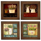 OzSeller COUNTRY SHABBY CHIC CERAMIC FRAMED HOME DECOR TILE/DECORATIVE WALL ART