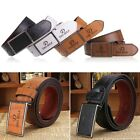 Luxury Men's Classic Buckle Automatic Waistband Leather Casual Genuine Belt