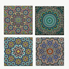 MOROCCAN PATTERN HOME DECOR UNFRAMED WALL TILE TABLE COASTER NEW