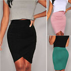 Sexy Women Office OL Summer Casual Stretch Bodycon Pencil Skirt Mini Party Dress