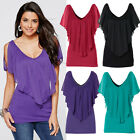 New Womens Sexy Summer Casual Loose Batwing Sleeve Loose Blouse Tops Tee T-shirt