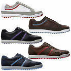 FOOTJOY MENS CONTOUR CASUAL SPIKELESS GOLF SHOES - WATERPROOF LEATHER NEW 2014