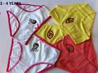 girls panties/briefs/knickers 5 PACK SIZE 3/4,7/8 Years cotton undies