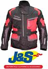 FRANK THOMAS FTW701 JUPITER MOTORCYCLE JACKET MOTORBIKE RED TEXTILE WATERPROOF