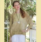 OH MY GAUZE Cotton Lagenlook ABBY Boxy Crop Top  1(M/L/XL) 2(1X/2X) WASHED SAND