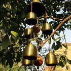 Bargain 6 Bells Copper Clock Yard Garden Outdoor Living Wind Chimes Length 55cm