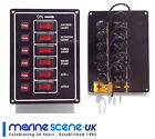 6 Gang Vertical Switch Panel 12 V  12 VOLT - Boat - Marine - New - A332