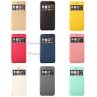 9 Colors View Window Flip Cover Folio Case for Samsung Various