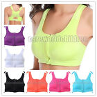 New High Impact 4 Support Insert Padded Front Zipper Sports Bra DRI-FIT Tops B62