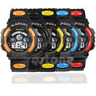 Waterproof Digital LED Men Women Kids Boy Quartz Alarm Date Sports WristWatch