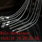 """Silver Plated Metal Rolo Necklace Chain 1mm 16"""" 18"""" 20"""" 22"""" 24'' Wholesale Price"""