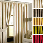 Paoletti Imperial Velvet Lined Ready Made Pencil Pleat Heading Tape Curtains