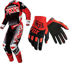 Fox Racing Red/Black Mens 180 Honda Jersey & Pants with Red Dirtpaw Race Gloves