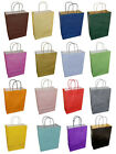 Bright Coloured Twisted Handle Kraft Paper Party Gift Hen Night Carrier Bags