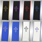 Tony Blake Clergy Stole with Cross Embroidery for Full Length Preacher Robe
