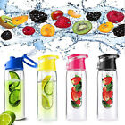 700ML Sports Lemon Juice Flip Lid Fruit Infuser Infusing Water Bottle 4 Colours