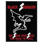 Black Sabbath We Sold Our Soul For Rock 'N' Roll sew-on cloth patch  (ro)