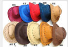High Quality Cotton Cowboy Hats Resellers Suede Leather 8 Colours Best Hot Deal
