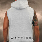 Mens Gym Spartan Sleeveless Hoodie Warrior fitness Sports Athletics MMA Hoody