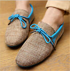 Men's Casual Breathable Weave Loafers Driving Moccasins Boat Shoes 3  Colors