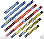 3 Magnetic Tool Rails Racks Holders Bars Set Wall 8 12 18in Blue Red Yellow