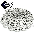 """18-40""""MEN Stainless Steel 10mm Silver Puffed Gucci Link Chain Necklace Bracelet"""