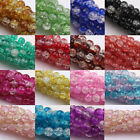 Hot Stylish  6MM-12MM Czech Glass  Cracked Loose Spacer Round Craft Beads DIY