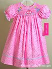 NWT Claire & Charlie Anavini Cinderella Smocked Bishop Dress 12 18 24 M Princess