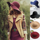 Fashion Women Ladies Vintage Hat Wide Brim Fedora Cloche Hat Cap Floppy Elegant