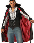 Adult Original Gothic Vampire Count Dracula Cape Shirt Halloween Costume Mens