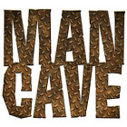 Man Cave Rusty Diamond Plate Wall Decal Vintage Style Garage Decor