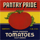 Pantry Pride Tomatoes Label Wall Decal Vintage Style Kitchen Decor