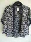 NEW MONTEAU GIRLS NAVY & WHITE PAISLEY PRINT LIGHTWEIGHT LAYERING JACKET