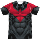 Nightwing Red Uniform Costume DC Comics Sublimation Poly Adult Shirt S-3XL