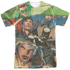 Justice League Torn Sublimation Poly Adult Shirt S-3XL
