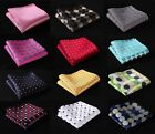 DA dot Men Silk Satin Pocket Square Hanky Wedding Party Handkerchief